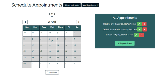 Schedule Appointments App Project