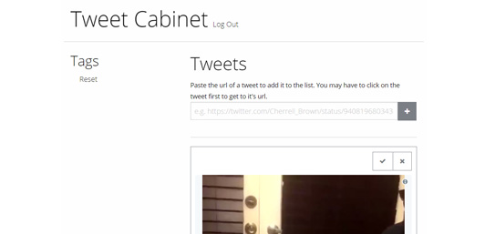 Tweet Cabinet