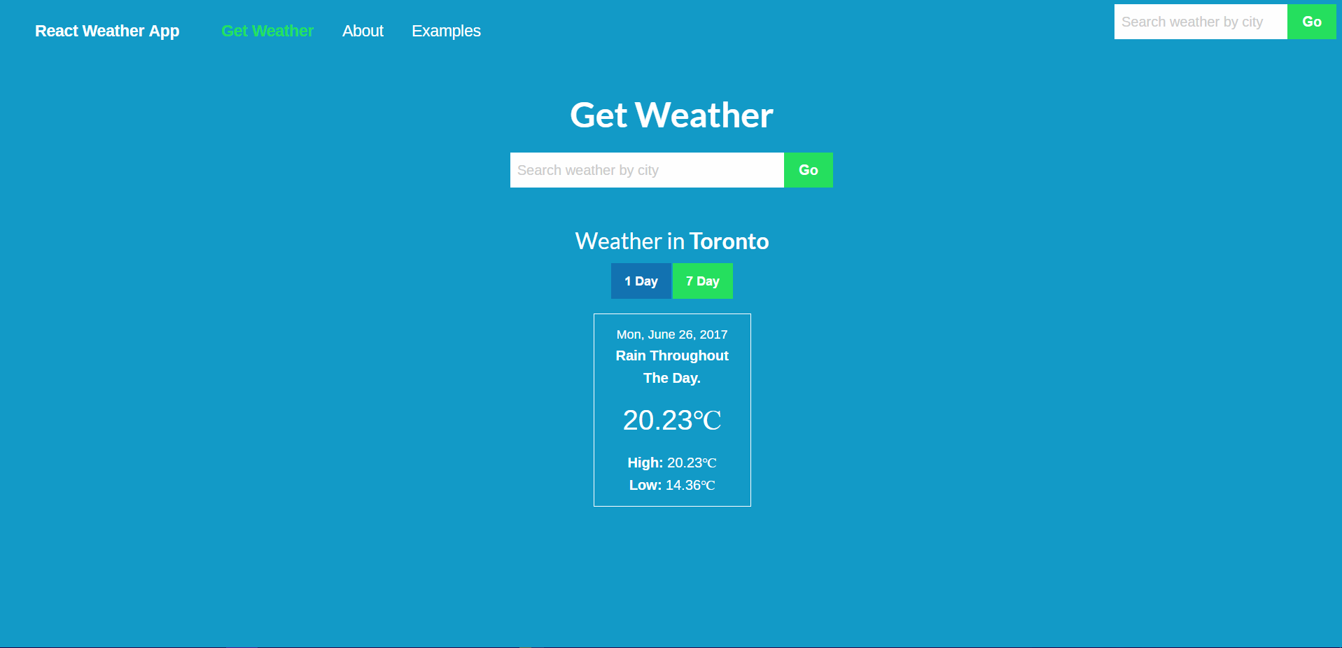 Weather App Project